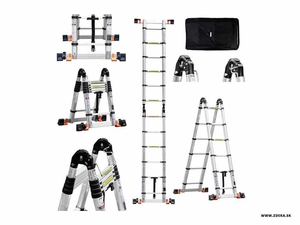 Kĺbový teleskopický rebrík 4,40 m - spevnený