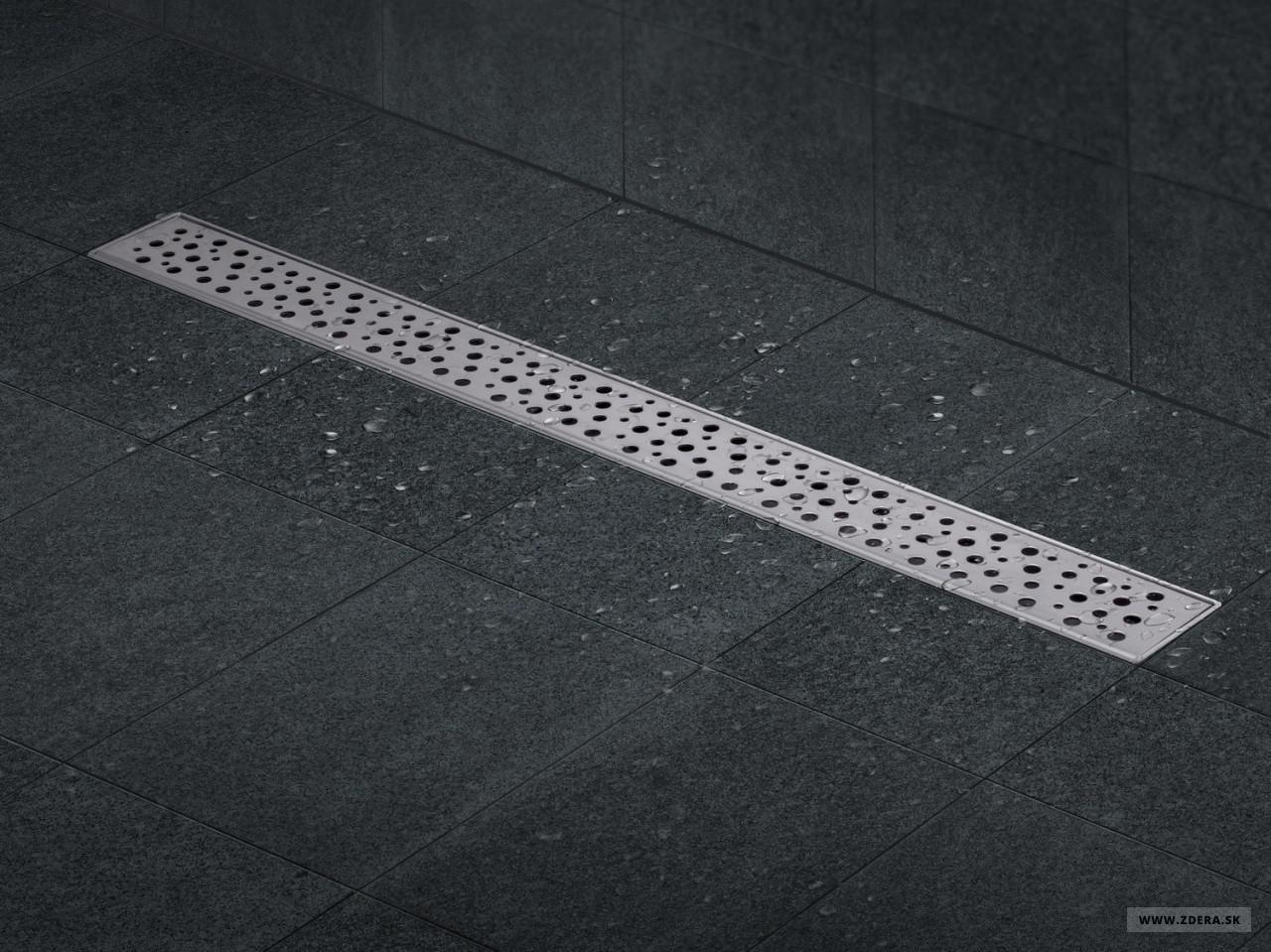 Sprchový podlahový žľab 70cm - dierky 2