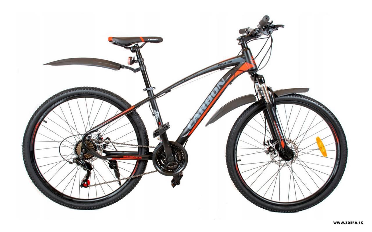 Horský Bicykel 26 MTB - čierna/červená - 15