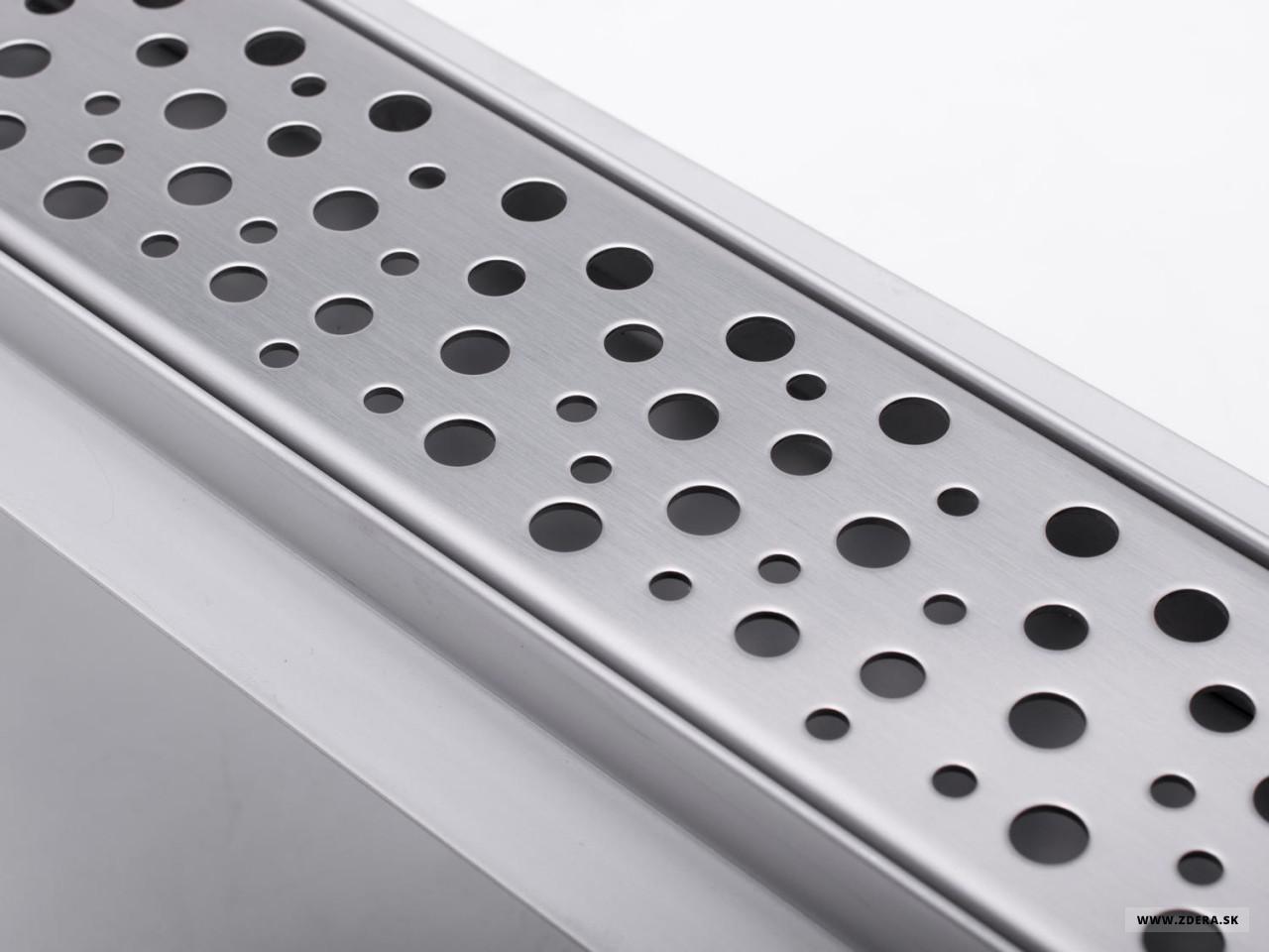 Sprchový podlahový žľab 80cm - dierky