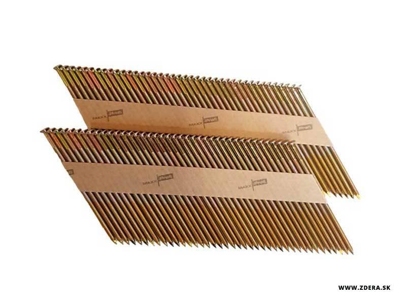 Klince do klincovačky 2,9 x 60mm 34° vrubkované - 2000 kusov