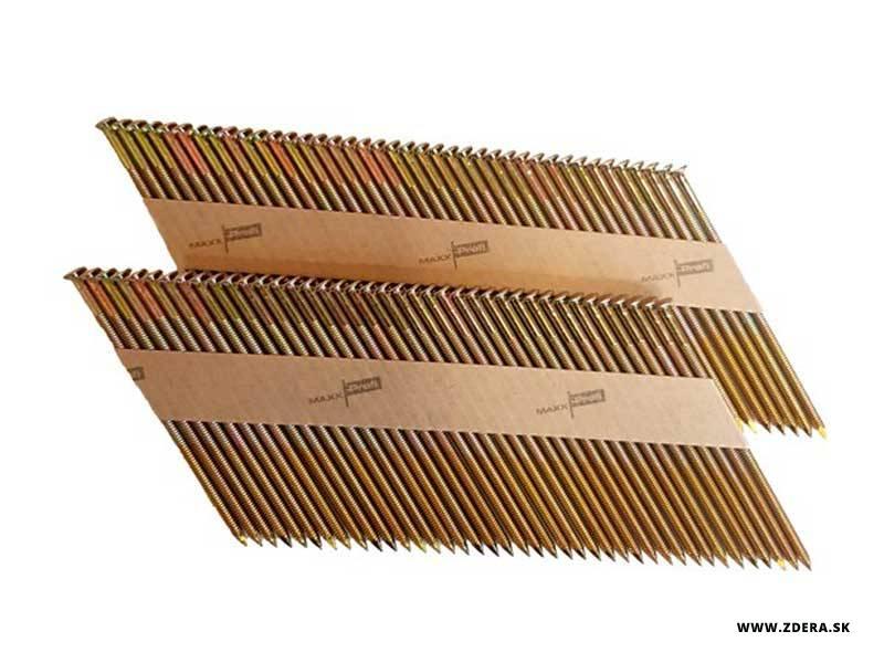 Klince do klincovačky 2,9 x 75mm 34° vrubkované - 480 kusov 1