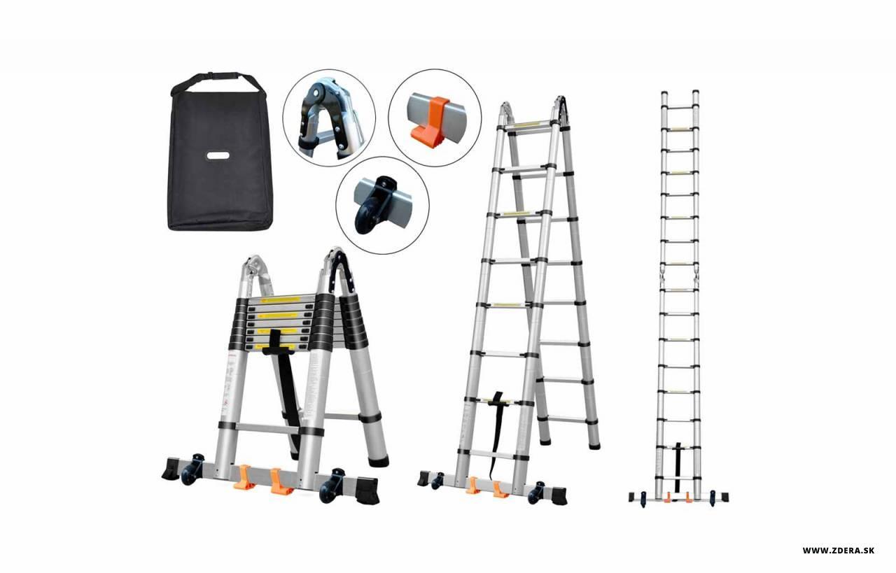 Kĺbový teleskopický rebrík 3.20 m