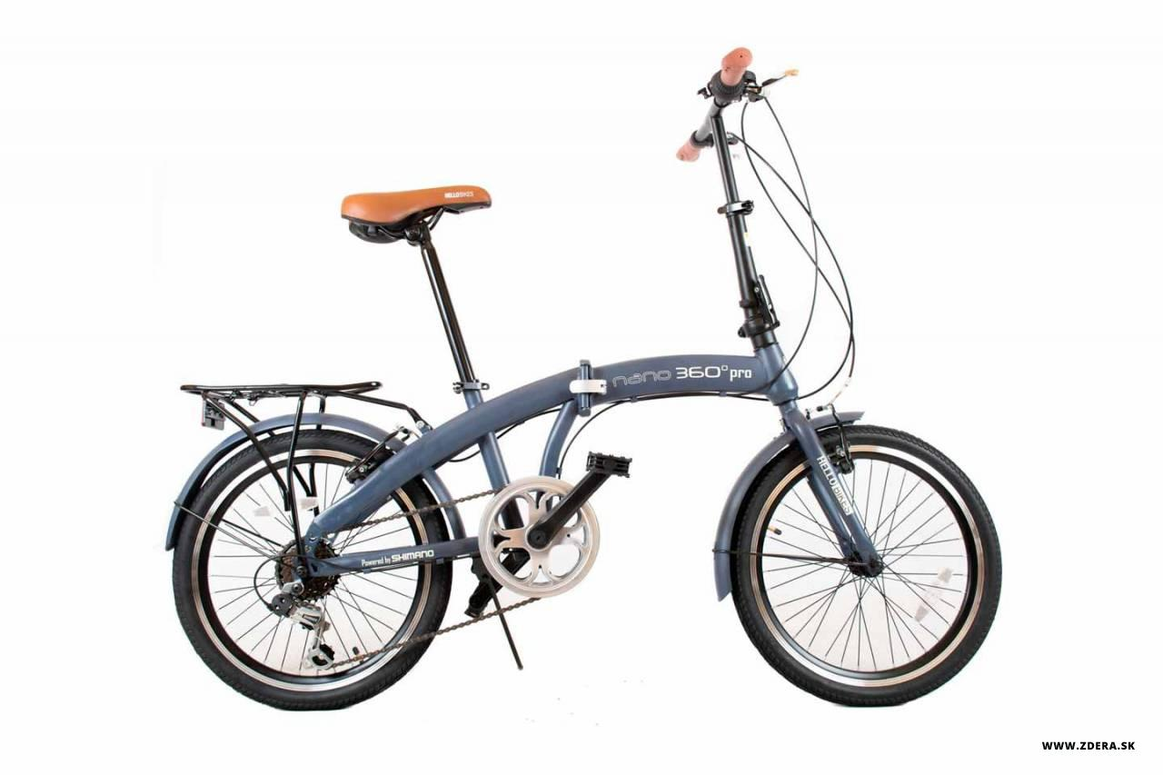 Mestký skladaci bicykel 20 NANO 360° - 12 - námornícka modrá