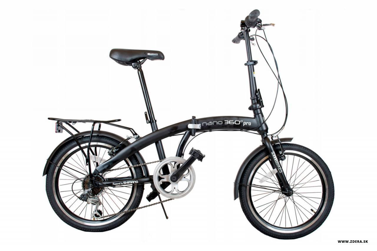 Mestký skladaci bicykel 20 NANO 360° - 12 - čierna