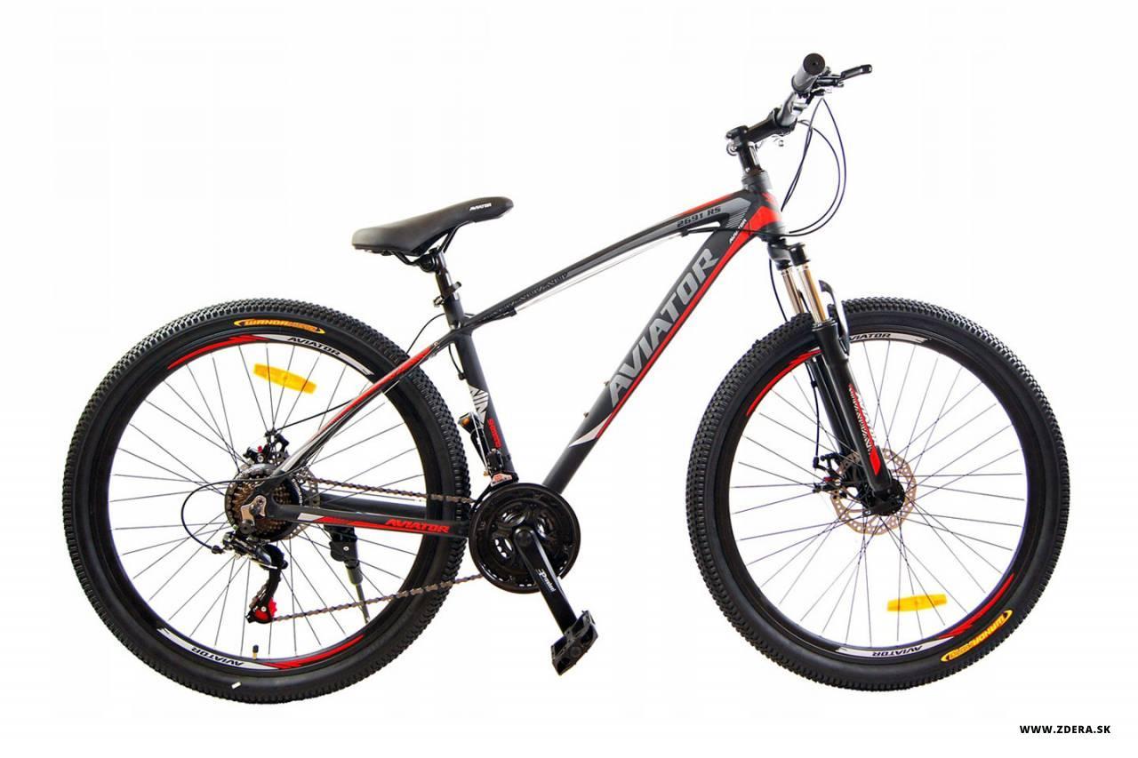 Horský bicykel 27.5 MTB - čierna/červená