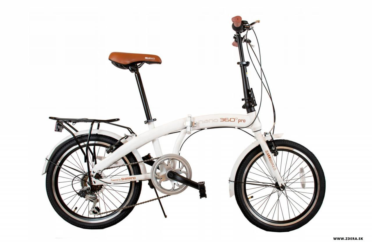 Mestký skladaci bicykel 20 NANO 360° - 12 - biela