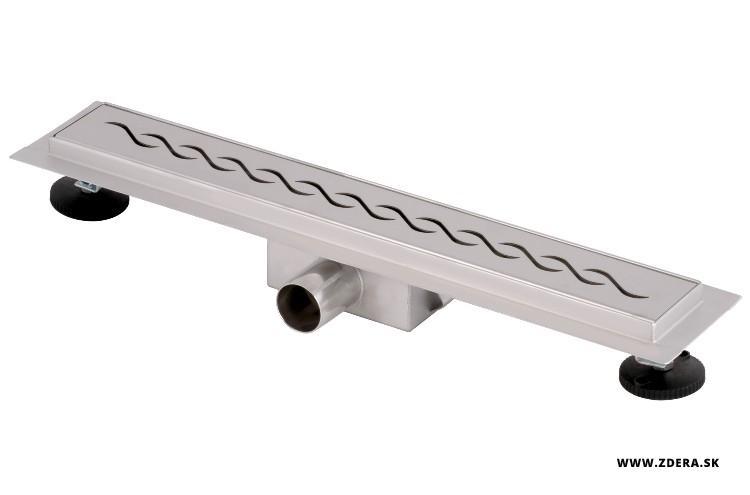 Sprchový podlahový žľab 50cm - vlnky 2