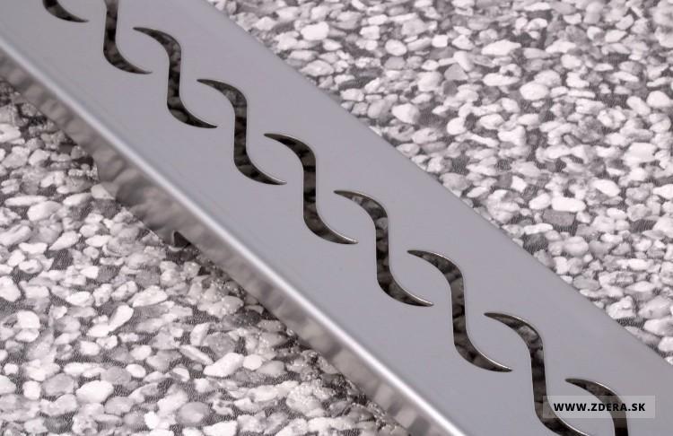 Sprchový podlahový žľab 50cm - vlnky 1